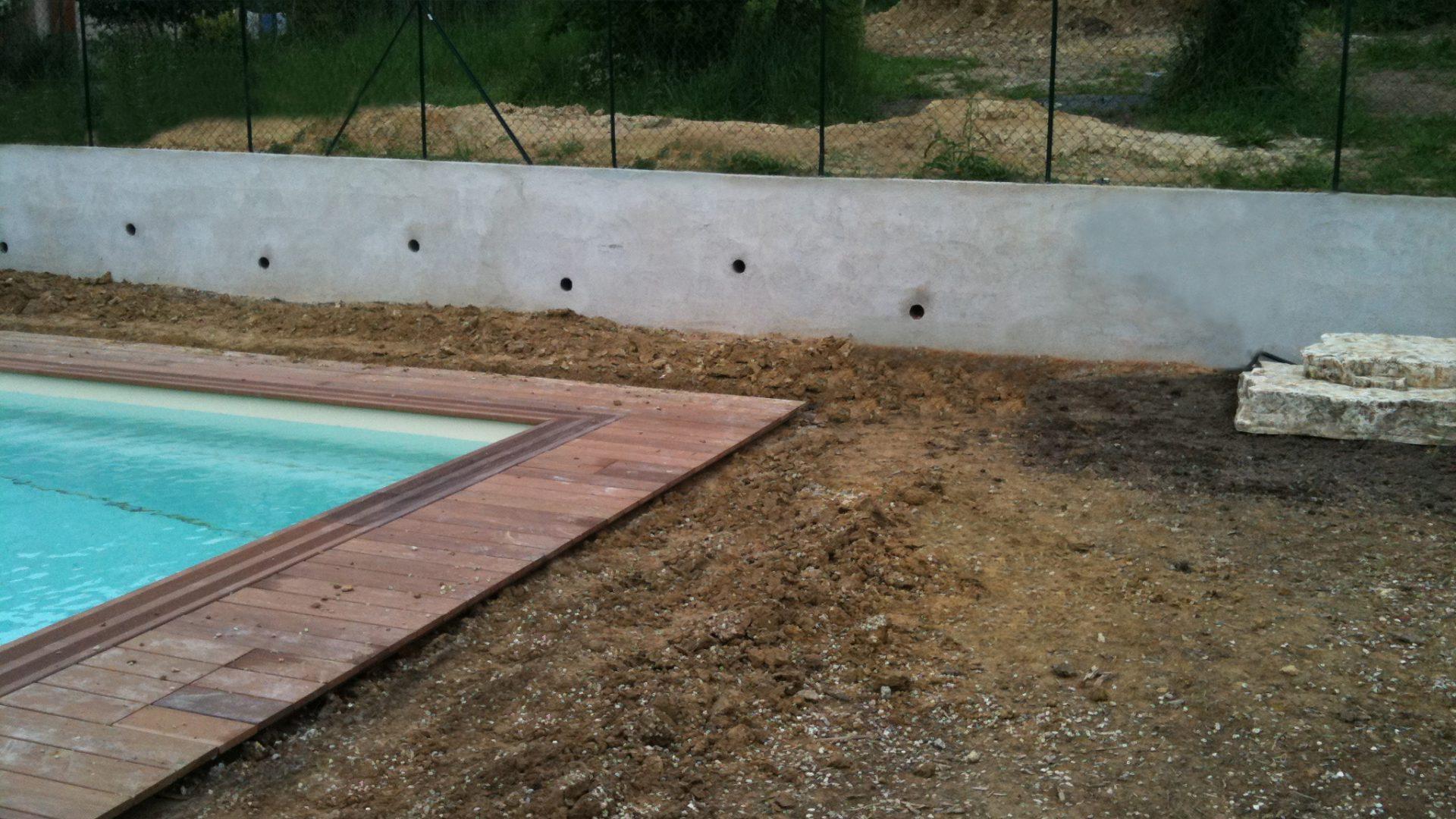 Mur de soutènement et abords de piscine - Concept Azur